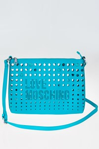 Love Moschino Bright Βlue Laser Cut-Out Shoulder Bag