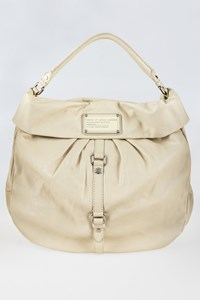 Marc By Marc Jacobs Dr. Q Lil Riz Ecru Leather Hobo Bag