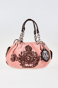 Juicy Couture Pale Baby Pink Lining Fluffy Velour Bag