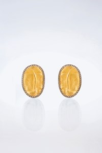 Fanourakis Pave Diamonds-Embellished Gold Clip Earrings