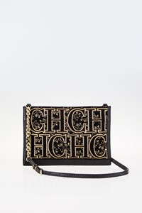 CH Carolina Herrera Logo-Embroidered Cross-Body Pochette