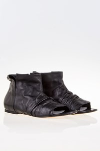 Maison Martin Margiela Black Leather Open-Toe Booties / Size: 39 - Fit: True to Size