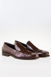 Tod's Brown High-shine Leather Loafers / Size: 43 (9) - Fit: True to size