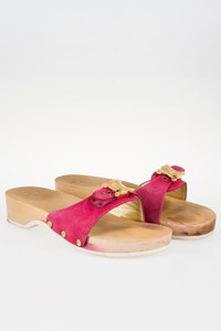 Scholl by Céline Pink Suede Limited Edition Sabot / Size: ? - Fit: 38