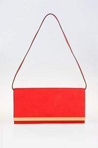 MICHAEL Michael Kors Tilda Red Leather Clutch