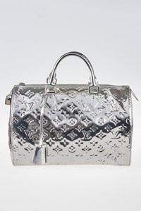 Louis Vuitton Limited Edition Monogram Miroir Speedy 35 Tote Bag