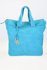 Dolce & Gabbana Turquoise Terry Beach Bag