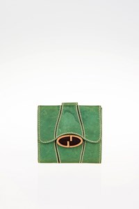 Gucci Green Leather Wallet with Buckle