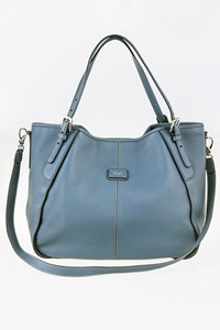 Tod's New G-Line Sacca Piccola Steel Blue Leather Shoulder Bag