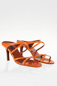 Ralph Lauren Tan Leather Strap Sandals / Size: 7.5 (37.5) - Fit: True to size
