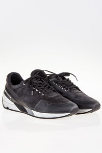 Pirelli  Derry Black Suede Men's Sneakers / Size: 41 - Fit: True to size