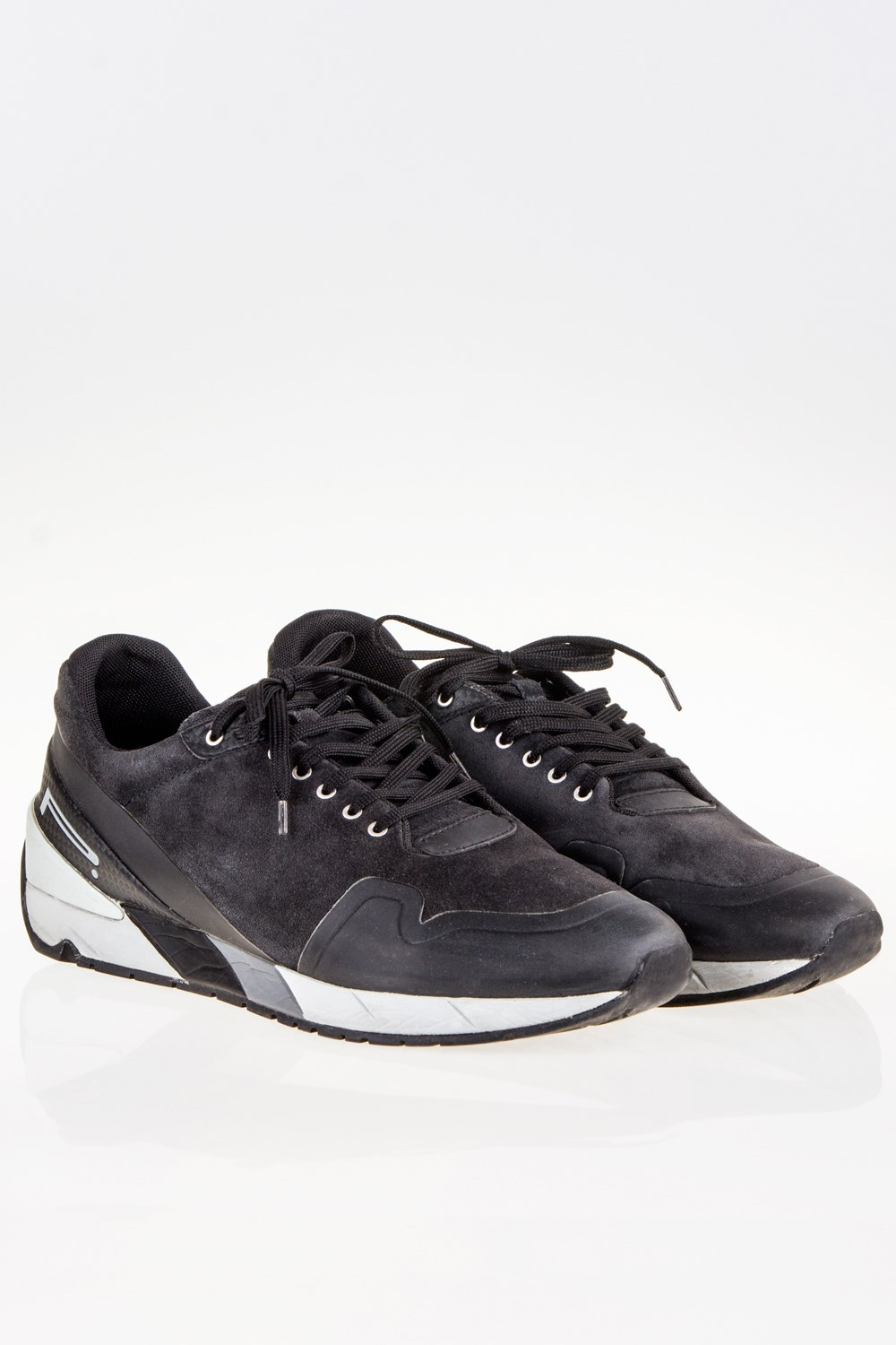 Valentino Rockstud Leather and Suede Sneakers Gr. EU 41