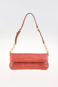 Miu Miu St. Coco Lux Flap Clutch with Shoulder Strap