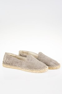 Manebi Ibiza Ash Grey Canvas Espadrilles / Size: 38 - Fit: 38.5