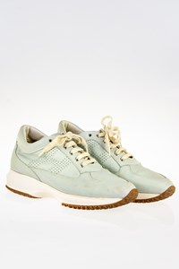 Hogan Interactive Baby Blue Leather Sneakers / Size: 39.5 - Fit: 40.5