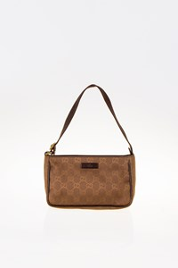 Gucci GG Canvas Brown Small Shoulder Bag