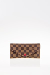 Louis Vuitton Damier Ebene Canvas Josephine Wallet with Extra Case