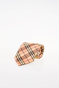 Burberry London Light Pink Check Silk Tie