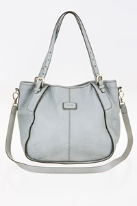 Tod's Sacca Piccola Grey-Ciel Leather Tote Bag