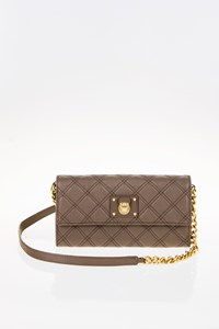 Marc Jacobs Ginger Taupe Golden Chain Clutch