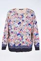 Marina Sport by Marina Rinaldi Multicolor Floral-Print Cardigan / Size: L - Fit: True to Size