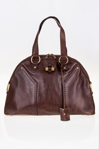 YSL Muse Brown Large Leather Tote Bag