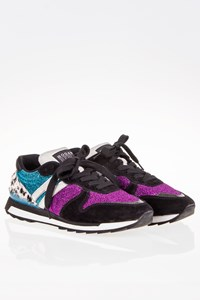 Hogan Rebel R261 Multi Fabric and Pony Skin Sneakers / Size: 37 - Fit: 37.5