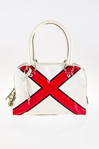D&G Lily White Printed Tote Bag