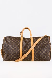 Louis Vuitton Monogram Canvas Keepall Bandouliere 55 Sac Voyage
