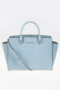 MICHAEL Michael Kors Large Selma Light Blue Tote Bag with Strap