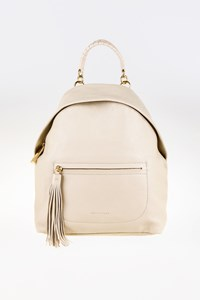 Coccinelle Seashell-Colored Leather Backpack