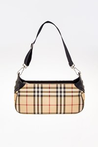 Burberry Nova Check Coated Canvas Shoulder Bag