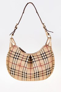 Burberry Rydal Hobo Bag with Golden Leather Details