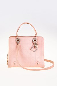 Dior Lady Dior Pink Tote Bag with Strap