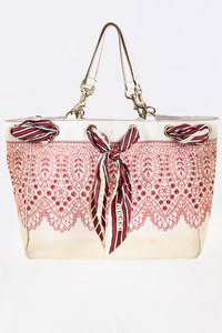Gucci Positano Embroidered Tote Bag with Scarf