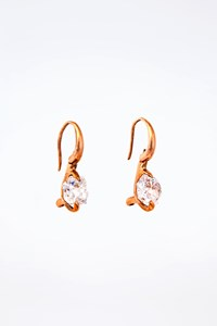 Very Gavello Rose Gold Large Swarovski Earrings