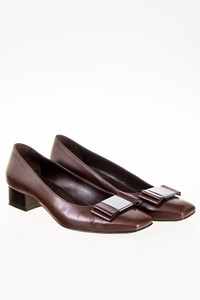 Altariva Dark Brown Pumps with Metallic Buckle / Size: 38 - Fit: 38.5