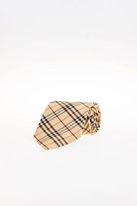 Burberry Multicoloured Silk Check Printed Tie