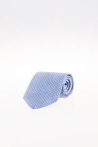 Lanvin Light Blue Striped Silk Tie