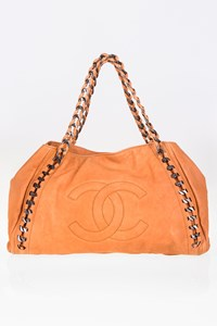 Chanel Glazed Caviar Leather Modern Chain Tote Bag
