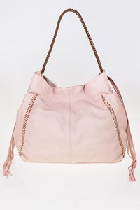 CALLISTA CRAFTS Powder Pink Leather Tote Bag