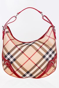 Burberry Supernova Check Large Hobo Bag