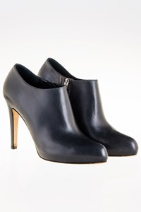 Gianvito Rossi Dark Blue Leather Ankle Boots / Size: 36 - Fit: True to size