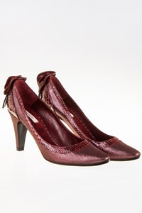 Marc Jacobs Burgundy Lurex with Exotic Skin Details / Size: 40½ - Fit: 40