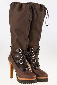 Dsquared2 Panzer Brown Boots / Size: 40 - Fit: True to size