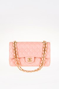 Chanel Light Pink Classic Double Flap Medium Bag