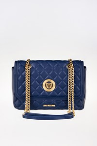 Love Moschino Blue Quilted Leather Shoulder Bag