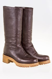 Prada Brown Leather Boots / Size: 38 - Fit: 38.5