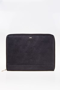Nava Design Black Leather Document Holder with Zip Closure