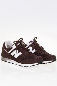 New Balance Brown Suede Leather Sneakers / Size: 45 - Fit: 44